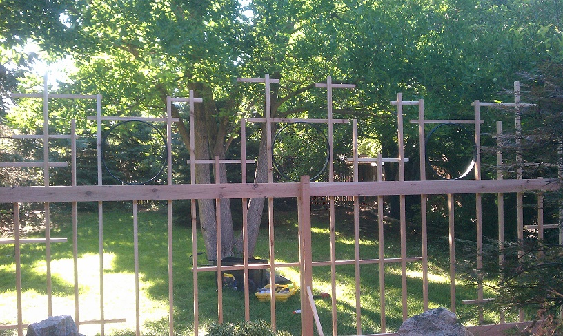 Moongate Style Fence for the Zen Garden- Denver