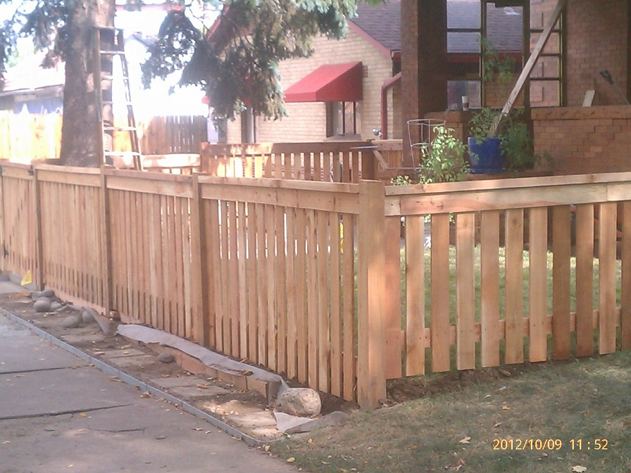 4 Foot High Wood Fencing http://stevensfencing.com/