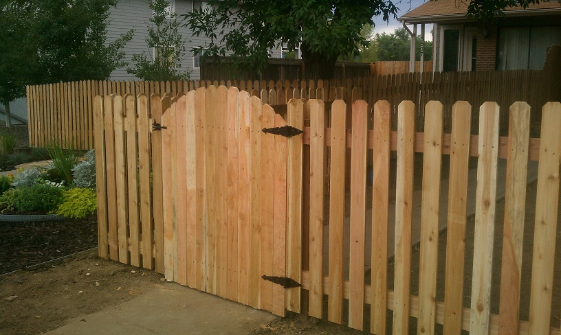wood picket fence gate. New Fence And Gate Englewood Wood Picket G