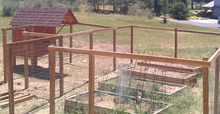 Wire Fence To Protect Vegetable Garden Parker